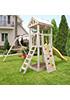 Детская деревянная площадка для дачи Панда + скалодром