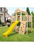 Детская деревянная площадка для дачи Башня макси + качельный модуль