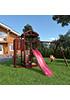 Деревянная детская площадка для дачи Панда с балконом