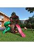 Деревянная детская площадка для дачи Панда с винтовой трубой