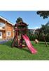 Деревянная детская площадка для дачи Панда gride