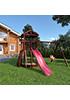 Детская деревянная площадка для дачи Панда gride с большим скалодромом
