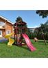 Деревянная детская площадка для дачи Панда + винтовая горка