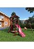 Деревянная детская площадка для дачи Панда gride с рукоходом