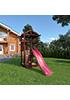 Деревянная детская площадка для дачи Панда tower скалодром