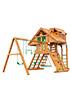 Деревянная детская площадка для дачи Крепость Deluxe (Домик)