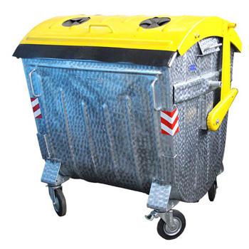 Оцинкованный контейнер для раздельного сбора мусора 1100л. (стекло, пластик, жесть)