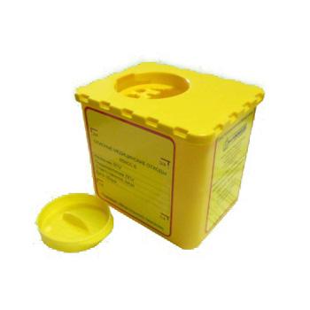 Емкость для сбора колюще-режущих медотходов (одноразовая) ЕСО-02-01 0,5л