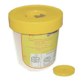 Емкость для сбора колюще-режущих медотходов (одноразовая) ЕСО-01 0,75л