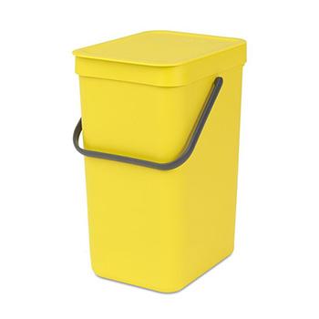 Урна-ведро пластиковое для медотходов Sort&Go 12л. желтое