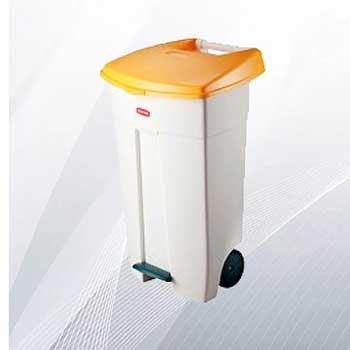 Контейнер под биоотходы пластиковый с педалью 106л