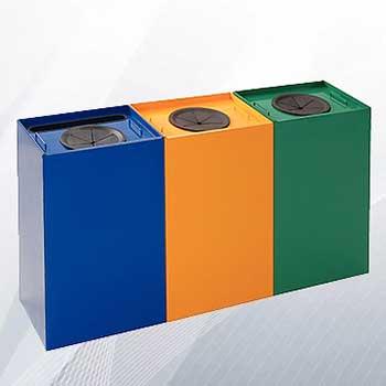 Металлический бак для раздельного сбора мусора 100л