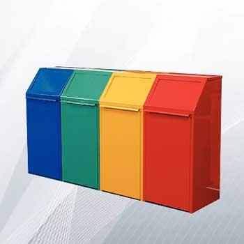 Металлический бак для раздельного сбора мусора 40л