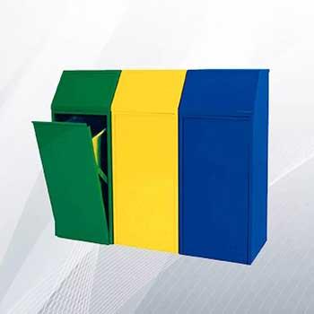 Металлический бак для раздельного сбора мусора 70л