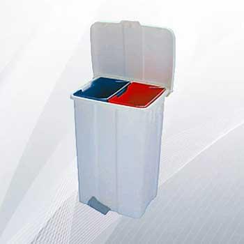 Пластиковый бак для раздельного сбора мусора (на 2 секции, 50л)