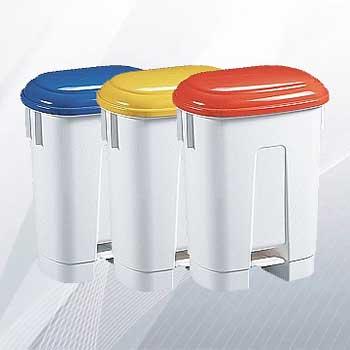 Пластиковый бак для раздельного сбора мусора в офисе СИРИУС 60л