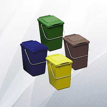Пластиковый бак для сбора мусора в офисе 10л