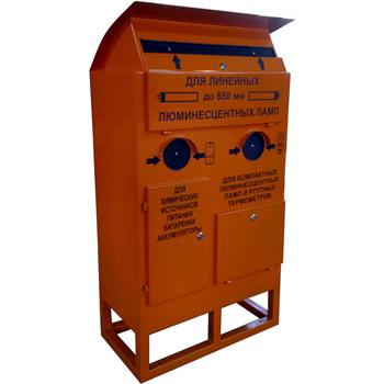 Контейнер для сбора батареек, люминесцентных ртутных ламп KM21 800x400x1400
