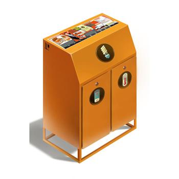 Контейнер для ламп, батареек и термометров ЛБТ К1 400x400x1150
