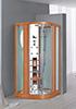Душевая кабина c бамбуковой отделкой ИК сауной и паровой баней