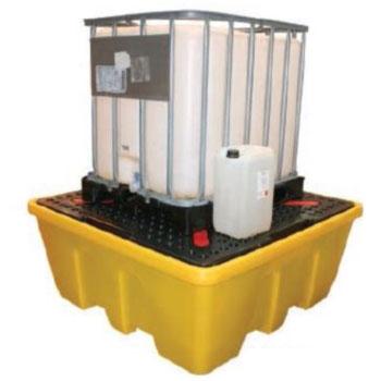 Поддон - контейнер 1260 л, для 1 или 2 IBC кубов (в штабель), c решеткой, штабелируемый, для ЛРТЖ