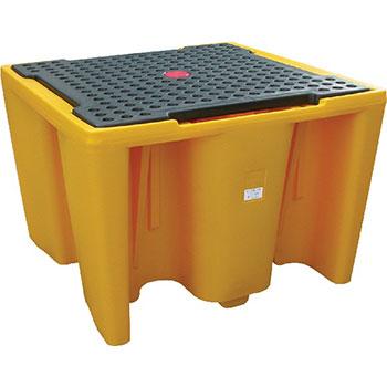 Поддон - контейнер 1100 л, для 1 IBC куба, c решеткой, для ЛРТЖ