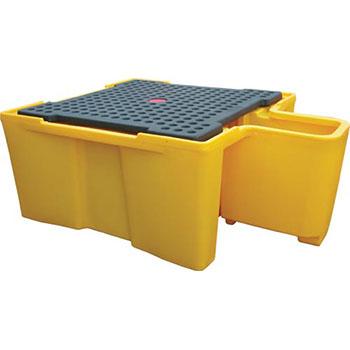Поддон - контейнер для 1 IBC куба, с решеткой и диспенсером для ЛРТЖ
