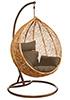 Плетеные качели из ротанга Derong KM-0001 средняя корзина