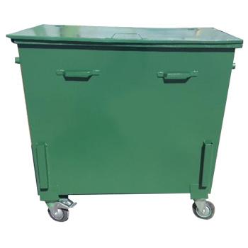 Металлический евроконтейнер для мусора 0,8 м3 (с цапфами, врозахватами)