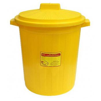 Многоразовый бак для мусора медицинских всех отходов (Класс А,Б,В,Г) с крышкой 20л.