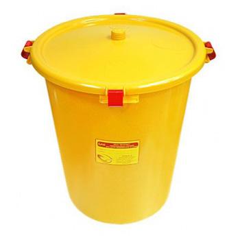 Многоразовый бак для мусора медицинских всех отходов (Класс А,Б,В,Г) с крышкой 35л.