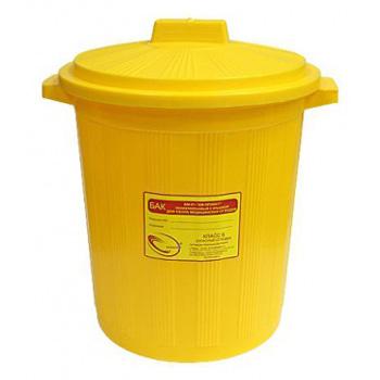 Многоразовый бак для мусора медицинских всех отходов (Класс А,Б,В,Г) с крышкой 12л.