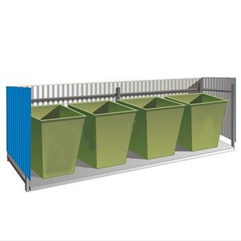 Ограждение мусорной площадки (3-4 контейнера)