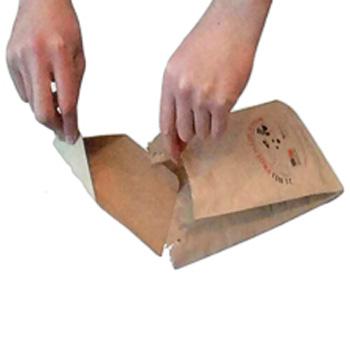 Бумажный пакет-лопатка для собачьих экскрементов