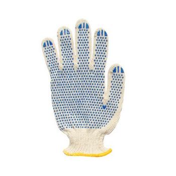 Перчатки с ПВХ напыление, 5-ти нитка 10 шт