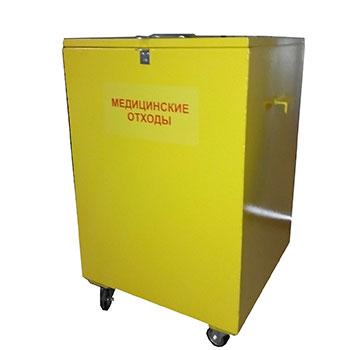 Контейнер для медицинских отходов класса В 400x400x750