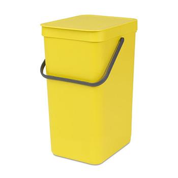 Урна-ведро пластиковое для медотходов Sort&Go 16л. желтое