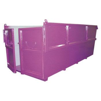 Бункер для мусора 10 куб.м. (стенки 3 мм, дно 4 мм) - с распашными дверями