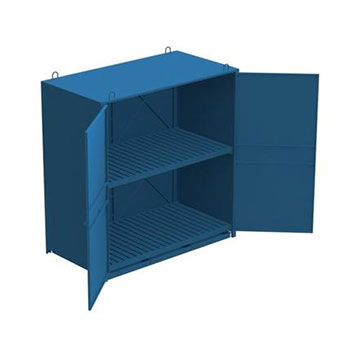 Шкаф металлический для хранения 200-литровых бочек