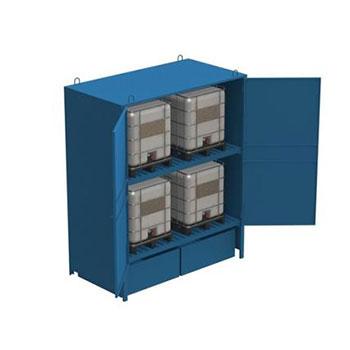 Шкаф металлический для хранения IBC/KTC контейнеров