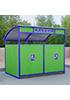 Закрытая декоративная контейнерная площадка ПК-3.1