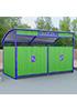 Закрытая декоративная контейнерная площадка ПК-3.2