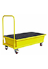 Металлический поддон-емкость на тележке для локализации разлива, 160л.