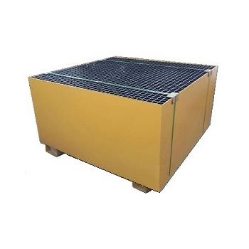 Металлический поддон-емкость контейнер для локализации разлива под 1 еврокуб, 1100л.