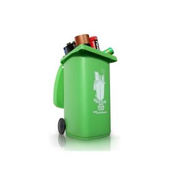 Органайзер для рабочего стола Wheelie Bin зеленый