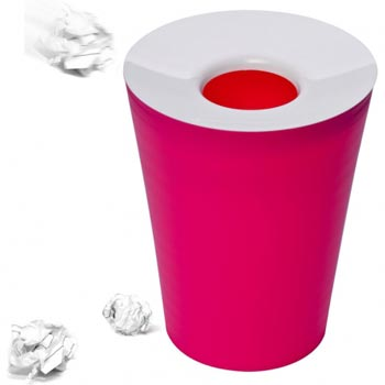 Корзина для мусора круглая Hole розовая