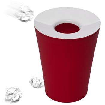Корзина для мусора круглая Hole красная