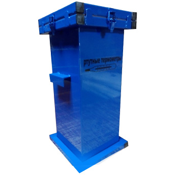 Герметичный контейнер для сбора, хранения, транспортировки на утилизацию ртутных люминесцентных ламп 500x250x250