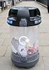 Урна мусорная прозрачная под раздельный сбор C-THRU Trio