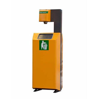 Урна для АЗС/заправок (с держателем одноразовых бумажных полотенец) Robomat